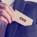 Man with a CEO card